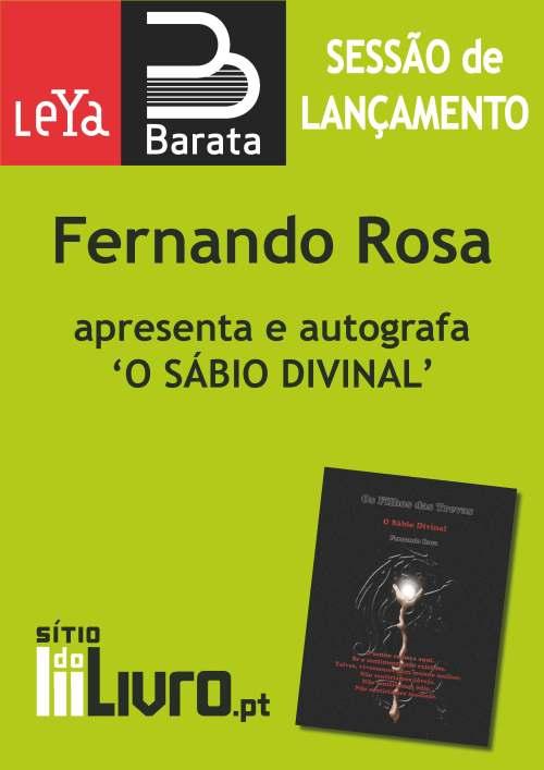 """Lançamento do livro """"O Sábio Divinal"""", de Fernando Rosa"""