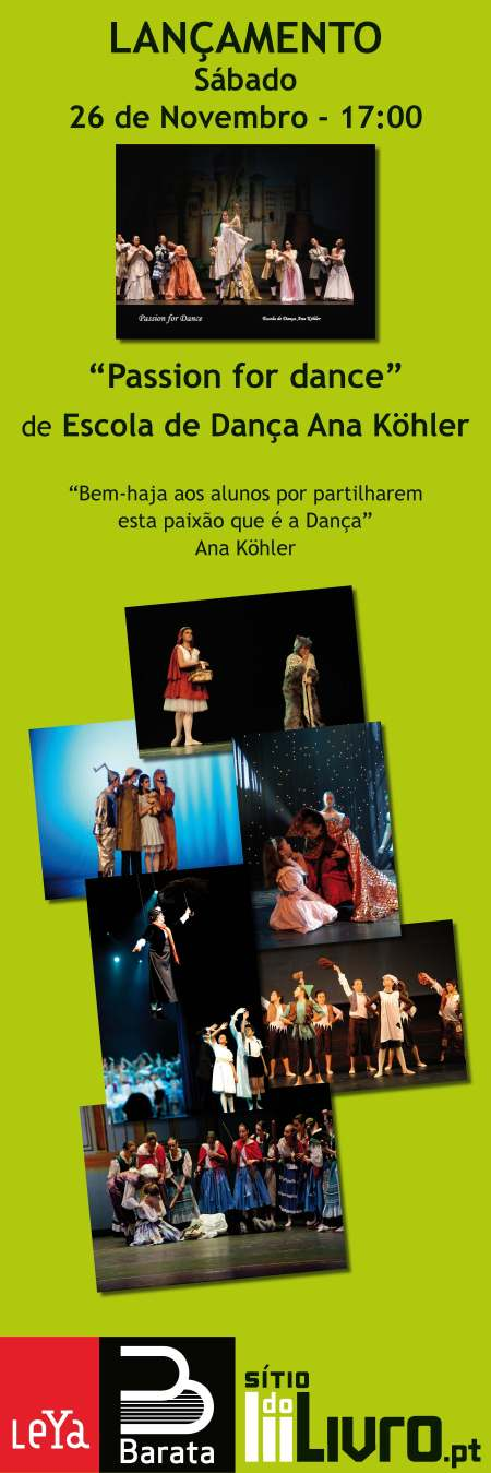 """Lançamento do livro """"Passion for Dance"""", da Escola de Dança Ana Köhler"""